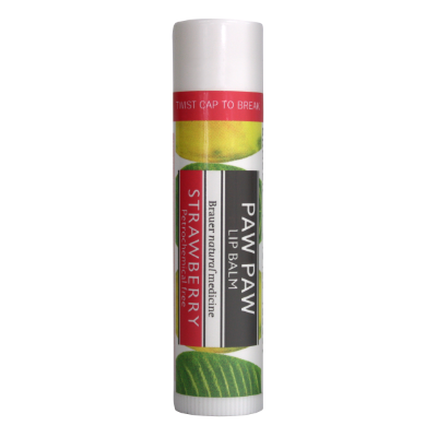 Brauer Natural Medicine Paw Paw Lip Balm Strawberry 5g