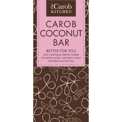 The Carob Kitchen Carob Coconut Bar 80g
