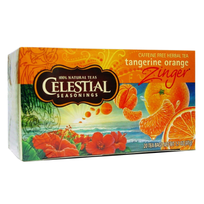 Celestial Tea Tangerine Orange Zinger 47g 20s Tea Bags