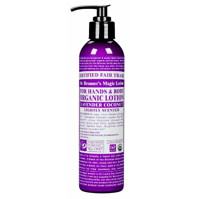 Dr Bronners Hand & Body Lotion Lavender Coconut Pump 237ml