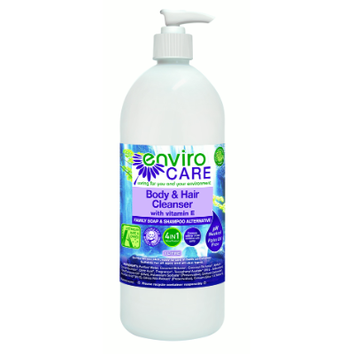 EnviroCare Body & Hair Cleanser Pump 1L