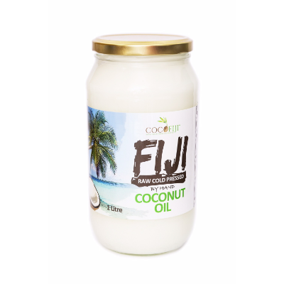 Coco Fiji Coconut Oil Raw Cold Presssed 1L