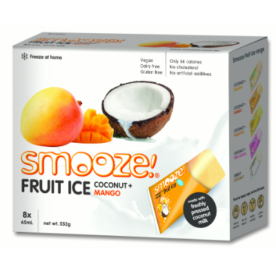 Smooze Fruit Ice Coconut & Mango 8 x 65ml