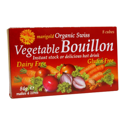 Marigold Health Foods Bouillon Cube Dairy Free Red 84g (8 cubes)