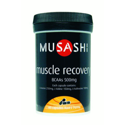 Musashi Amino Blends Muscle Recovery BCAAs 500mg 60c