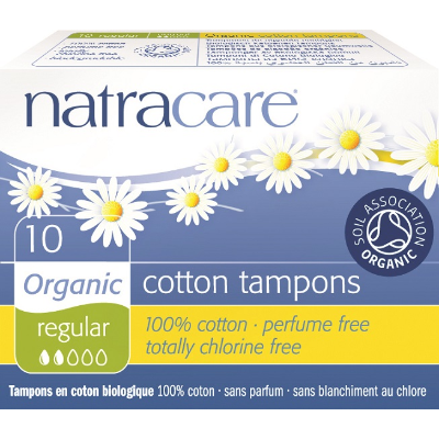 Natracare Tampons Non-Applicator Regular 10s