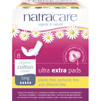 Natracare Pads Ultra Extra Long 8s