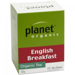 Planet Organic English Breakfast 50g 25s Tea Bags