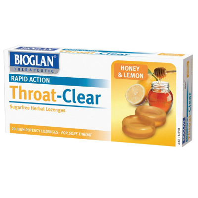 Pretorius Throat Clear Honey & Lemon 20s