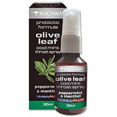 Rochway Olive Leaf Throat Spray Mint 30ml