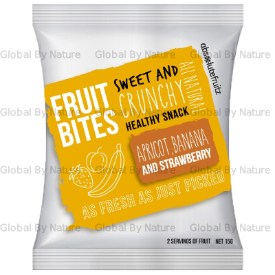 Absolute Fruitz Bites Apricot Banana Strawberry 15g