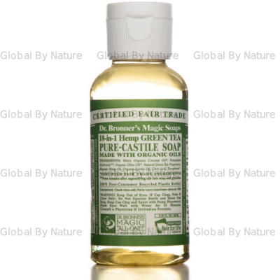 Dr Bronners Liquid Castile Soap Green Tea 59ml