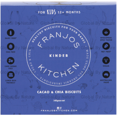 Franjo's Kitchen Cacao &Chia Kinder Biscuits 140g