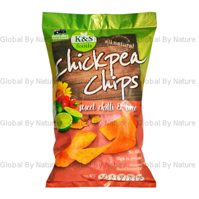 K & S Foods Chickpea Chips Sweet Chilli 175g