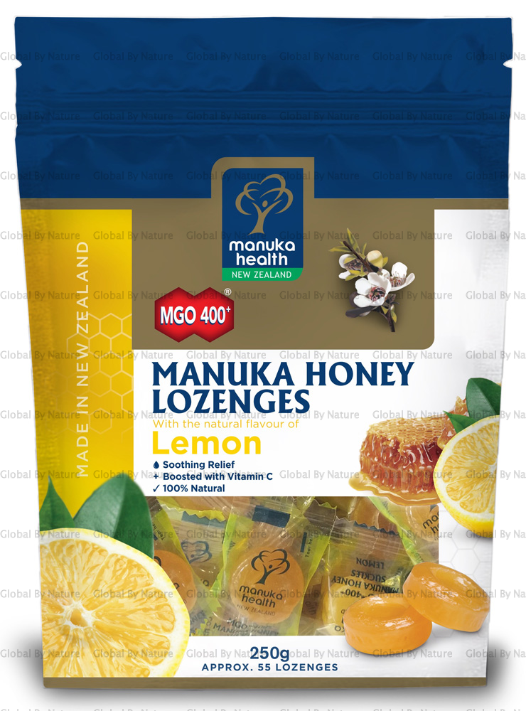 Manuka Health MGO400+ Manuka Lemon Suckles 250g