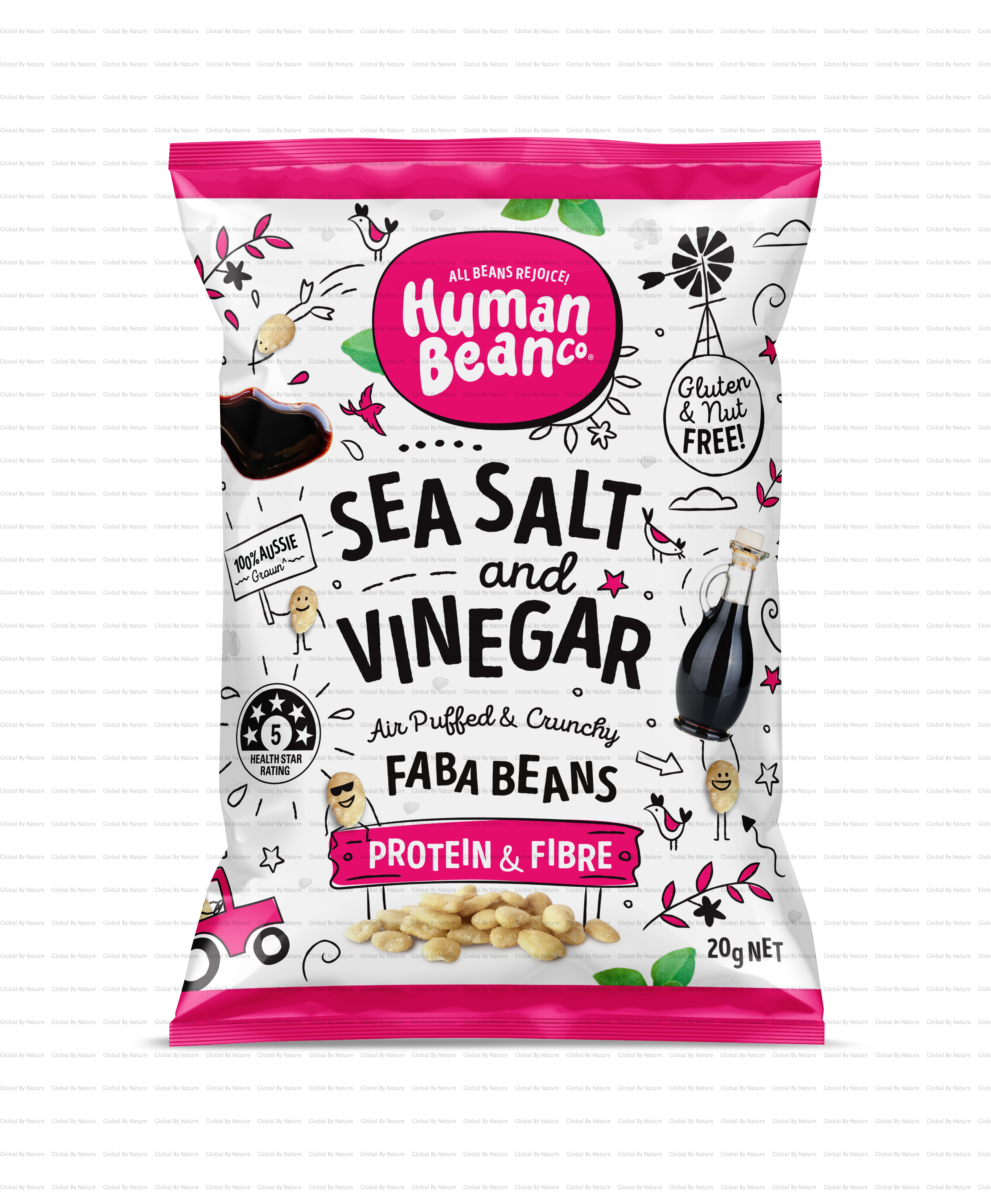 Human Bean Co Sea Salt & Vinegar Faba Beans 8 x 20g
